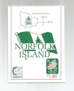 Norfolk Island 1995 Flower Designs Booklet (Local Post) SG 600/1 x 18 UMM