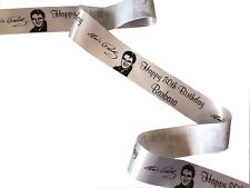 Elvis Presley PERSONALISED 45mm w RIBBON ideal for cakes decorations giftwrap