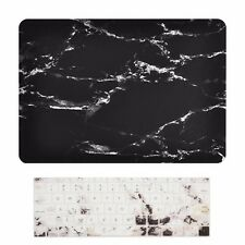 "2016 Macbook Pro 13"" NO TOUCH BAR A1708, MARBLE BLACK Matte Case + Keyboard Skin"