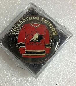 2002 Team Canada  ''Red Shirt'' The Hockey News Collectors Edition Coin Olympics