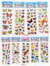 9sheets no repeat cartoon kids favor Dinosaur Butterfly puff stickers lot gift