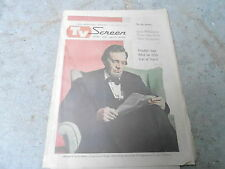 MARCH 26 1961 MILWAUKEE JOURNAL TV SCREEN SECTION - LINCOLN - RAYMOND MASSEY