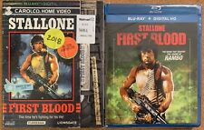NEW RAMBO FIRST BLOOD BLU RAY WALMART EXCLUSIVE + RARE OOP RETRO VHS SLIPCOVER
