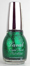 EMERALD GREEN GLITTER NAIL VARNISH POLISH LACQUER GLOSS FINISH BY LAVAL 15ML NEW