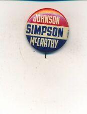 1964 LBJ Johnson president - Simpson US cong & Eugene McCarthy US Sen Minnesota
