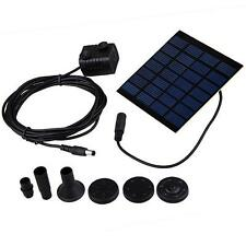 Fountain Water Pumps + Solar Powered Panel Kits For Garden Pond Pool Watering
