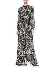Michael Kors Fremont Tie-Neck Leopard Maxi Dress Size Small (NWOT)