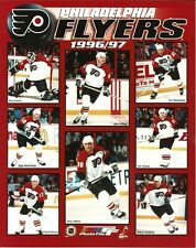 PHILADELPHIA FLYERS 8x10 1996-97 NHL TEAM PHOTO Hextall/LeClair/Lindros/Falloon