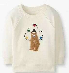 HANNA ANDERSSON Sweatshirt w/ Appliqued Juggling Bear NWT Boys 2T (Eur 85)