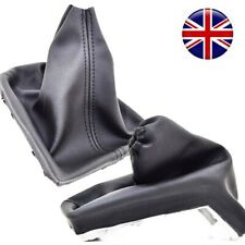 FOR VAUXHALL OPEL ASTRA H (04-14) HANDBRAKE & GEAR SHIFT BOOT GAITER LEATHER P57
