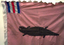 FLAG TEXTILE APPLIQUED LIZARD CROCODILE ANIMAL IMAGE DRAPEAU FANTE ASAFO ETHNIX