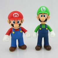 "2 Pcs New Nintendo Super Mario Brother Mario Luigi Action Figure Toy Gift 5""12cm"