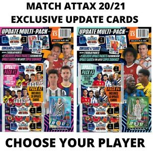 MATCH ATTAX EXCLUSIVE UPDATE CARDS 20/21 - CHOOSE YOUR CARDS - BUY 2 GET 1 FREE