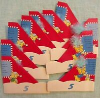 10 Vintage Party Hat Birthday Greeting Cards 1950s  Box of Hats w/ Envelopes 5YR