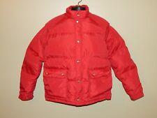Vintage CAMEL Red Nylon Puffy Goose Down Winter Coat Jacket Mens sz XL Korea