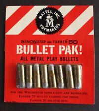 MATTEL WINCHESTER FANNER 50 BULLET PAK ALL METAL ORIGINAL UNUSED MINT!