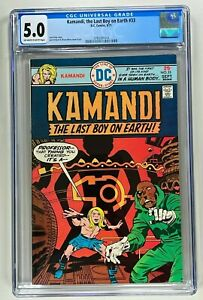 KAMANDI THE LAST BOY ON EARTH #33 CGC 5.0 (DC 1975) JACK KIRBY BRONZE AGE 🔑