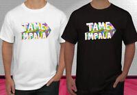 New Tame Impala Concert Logo Rock Band Black White Men's T-shirt S-2XL