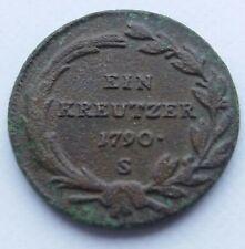 +1 Austria 1 Kreuzer KM# 2056 1790 S