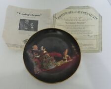 Evening's Repose Collectible Plate by Norman Rockwell 8th in Golden Moments