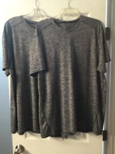 TWO (2) Men's Russell Dri - Power 360 V-Neck  SS Athletic T-Shirt  XL