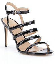 NEW MSRP $125  MICHAEL KORS Nantucket High Heel Sandals, Black Patent, Size 10 M