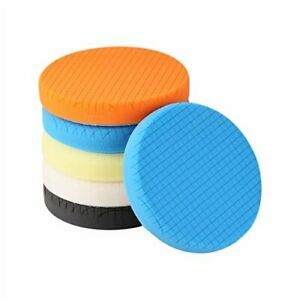 SPTA Buffing Polishing Pads 5Pc 7 Inch Face for 6.7 Inch Backing Plate Compou...