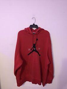 Vintage Air Jordan Men's Red Pullover Hoodie Size 2XL