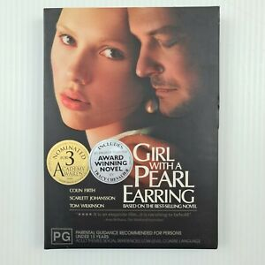 Girl With a Pearl Earring DVD - Slip Case & Booklet - R4 - TRACKED POST