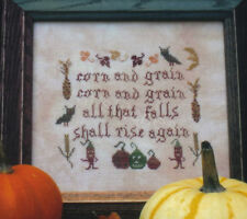 THE PRIMITIVE NEEDLE CORN AND GRAIN CROSS STITCH CHART, LISA ROSWELL, OOP