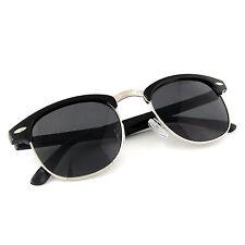Clubmaster Sunglasses Mens Driving Glasses Aviator Retro Eyewear Men Vintage blk