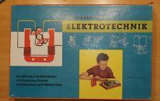 Sammlerstück selten Kosmos Baukasten Elektrotechnik ~1964 Holz schöner Zustand