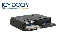 "New ICY Dock flexiDOCK MB524SP-B 4 bay 2.5"" SAS SATA HDD Hot Swap Mobile Rack"