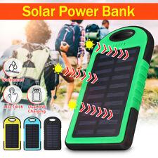 Waterproof Solar Power Bank 12000mAh Portable Battery  Fast Charger Dual USB  UK