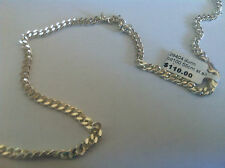 STERLING SILVER BELCHER CHAIN 55CM THICK   RRP.$110.00       (154A)