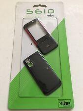 Nokia 5610-FULL Fascia Alloggiamento Cover Frontale Cover Tastiera di Ricambio Rosso