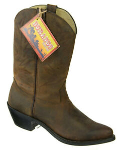 Durango Womens RD4112 Western Cowboy Boots Size 10M Brown Distressed Leather