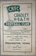 More details for cradley heath v worcester city 1949/50