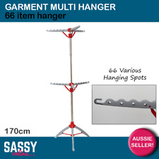 Garment Multi Hanger 66 Ironing Clothes Rack Laundry Airer Portable Fold Up
