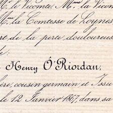 Henry O'Riordan La Tremblaye Le Pin Deux-Sèvres 1867