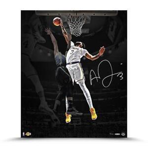 """ANTHONY DAVIS Autographed Lakers """"Rejection"""" 20"""" x 24"""" Photograph UDA LE 100"""
