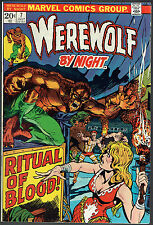 WEREWOLF BY NIGHT  7  VF+/8.5  -  Ritual of blood!