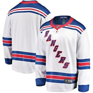 Men's New York Rangers Away White Breakaway NHL Blank Hockey Jersey