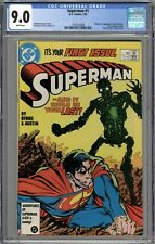 Superman #1 CGC 9.0 VF/NM Origin & 1st Appearance of New Metallo WHITE PAGES