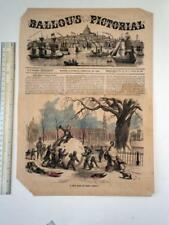 1850's Various Dates: Ballou's Pictorial and other engravings 22 in all