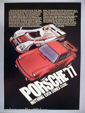 Porsche 936 & Turbo Carrera PRINT AD - 1977