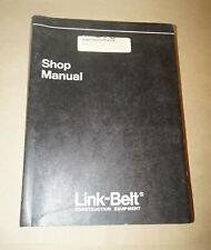Link Belt T-270 Crane OEM Factory Shop Manual P/N WEL2701-0E