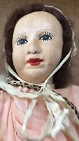 """Vinage Entirely Handmade Cloth Doll Clothes Shoes Female 12"""""""