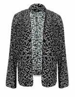 New Plus Size Ladies Smart Casual Blazer Black White Jacket