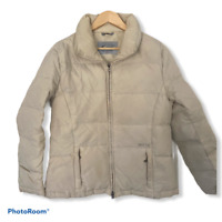 Guess Beige Puffer Jacket Winter Full Zip Coat Women's Size Medium